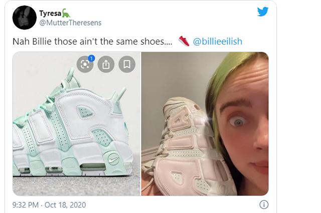 """""""Ну, Билли, это не одни и те же кроссовки"""""""